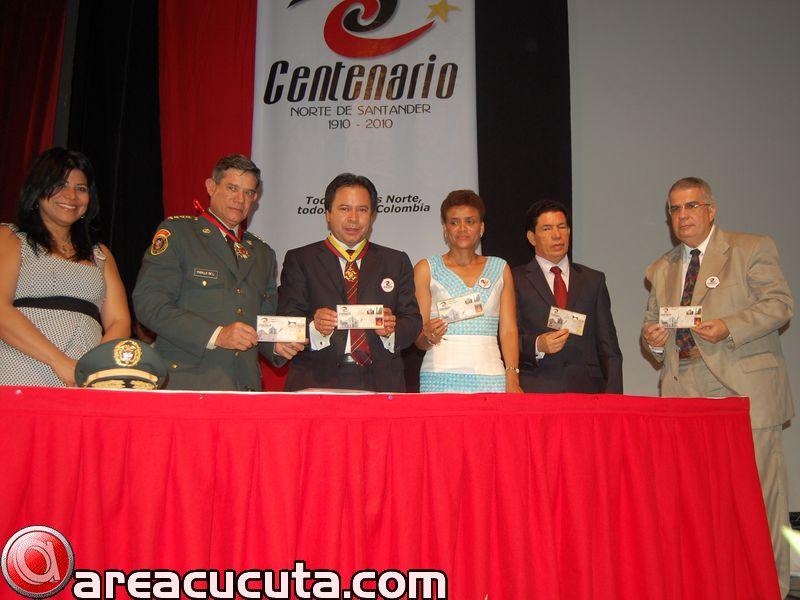 lanzamiento de la emisión postal Norte de Santander 100 años
