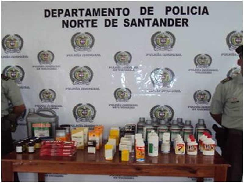 Policía Nacional Incautó Más De 70 Productos Para Uso Veterinario De Contrabando