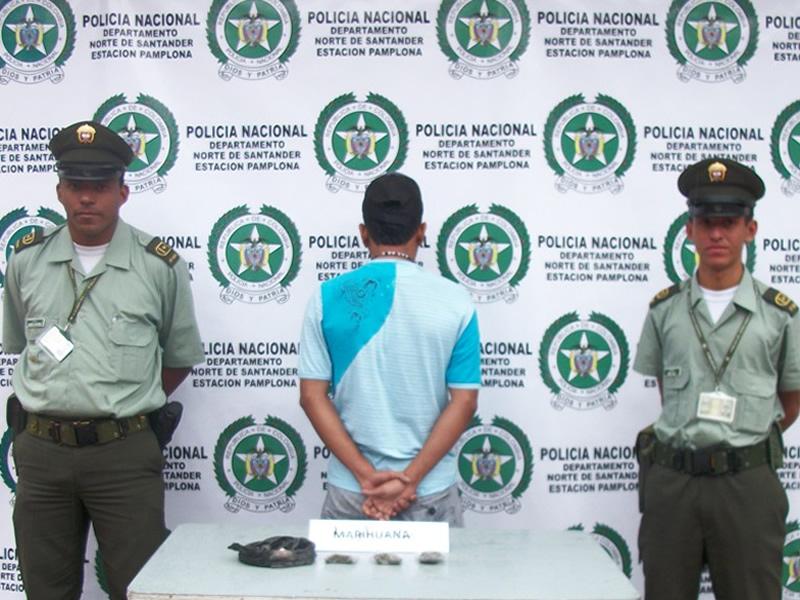Policía Nacional Captura  En Pamplona A Un Presunto Expendedor De Estupefacientes