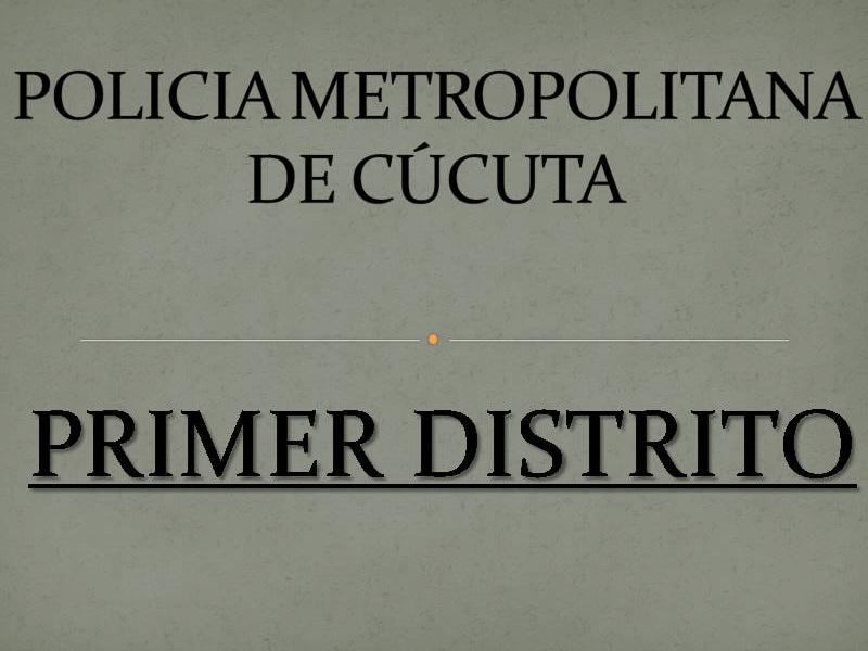 Casos Operativos Relevantes – 290910 Primer Distrito Mecuc