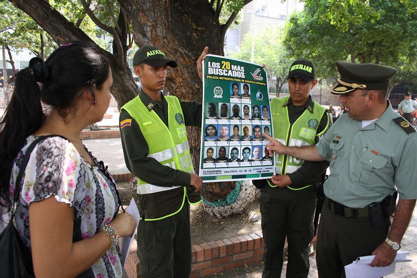El Coronel Pico Malaver presento a la ciudadana la lista de los 20 más buscados