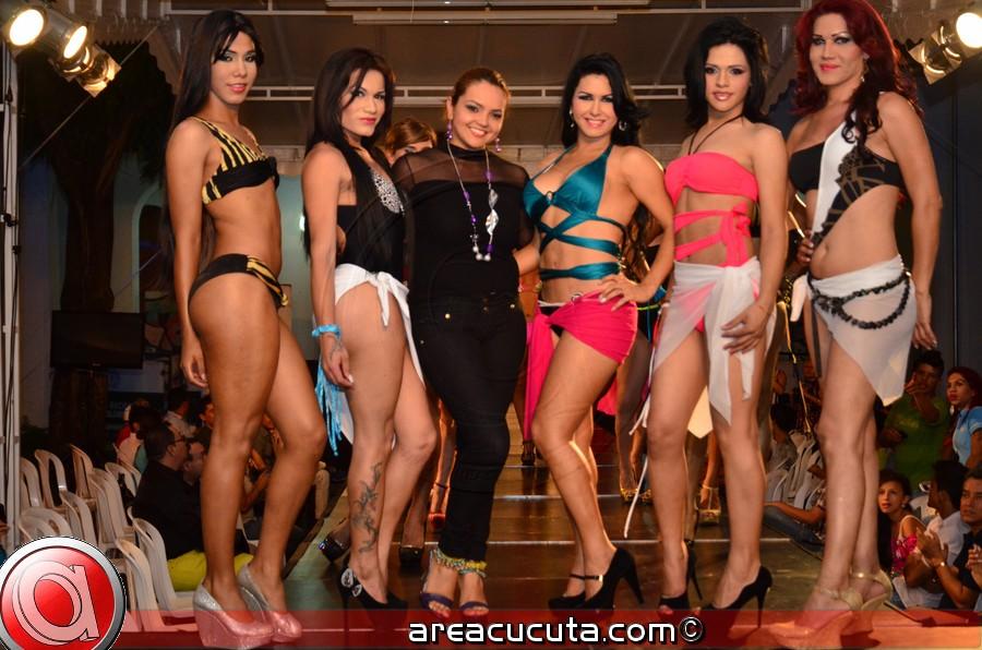 Las Chicas Transexuales de Cúcuta exhibieron toda su gracia y talento en una gran noche de gala sobre la  pasarela T