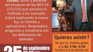 Invitación socialización ley penaliza maltrato  animal