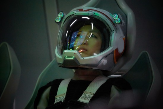 JiHAE Hana Seung the Korean-American mission pilot and software engineer on the Daedalus.  The global event series MARS premieres November 14 at 8/9c in the U.S. and internationally Sunday November 13 on the National Geographic Channel.    (photo credit:  National Geographic Channels/Robert Viglasky)
