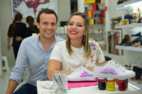 German Hernandez, Grte, Calzado Mussi y la Artista  Margarita Carrascal