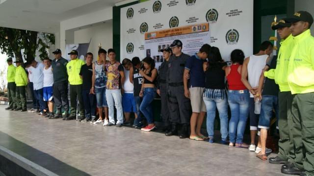 Capturadas 15 personas dedicadas a la comercialización de estupefacientes y homicidios