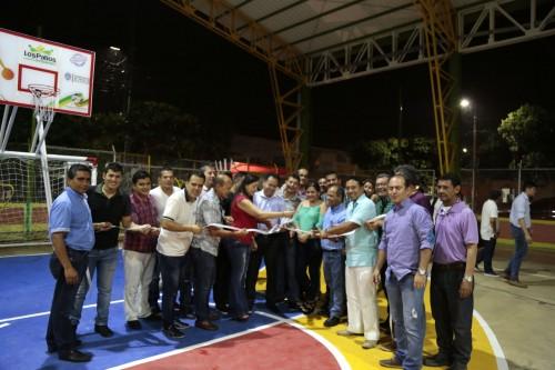 Entrega remodelación de la cancha Manuel Barco Mora en el barrio Patio Centro de Los Patios (13)