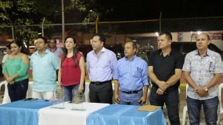 Entrega remodelación de la cancha Manuel Barco Mora en el barrio Patio Centro de Los Patios (3)