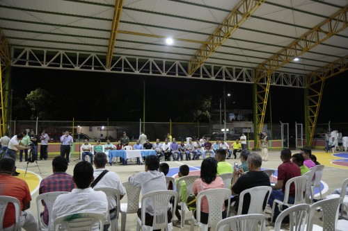 Entrega remodelación de la cancha Manuel Barco Mora en el barrio Patio Centro de Los Patios (8)