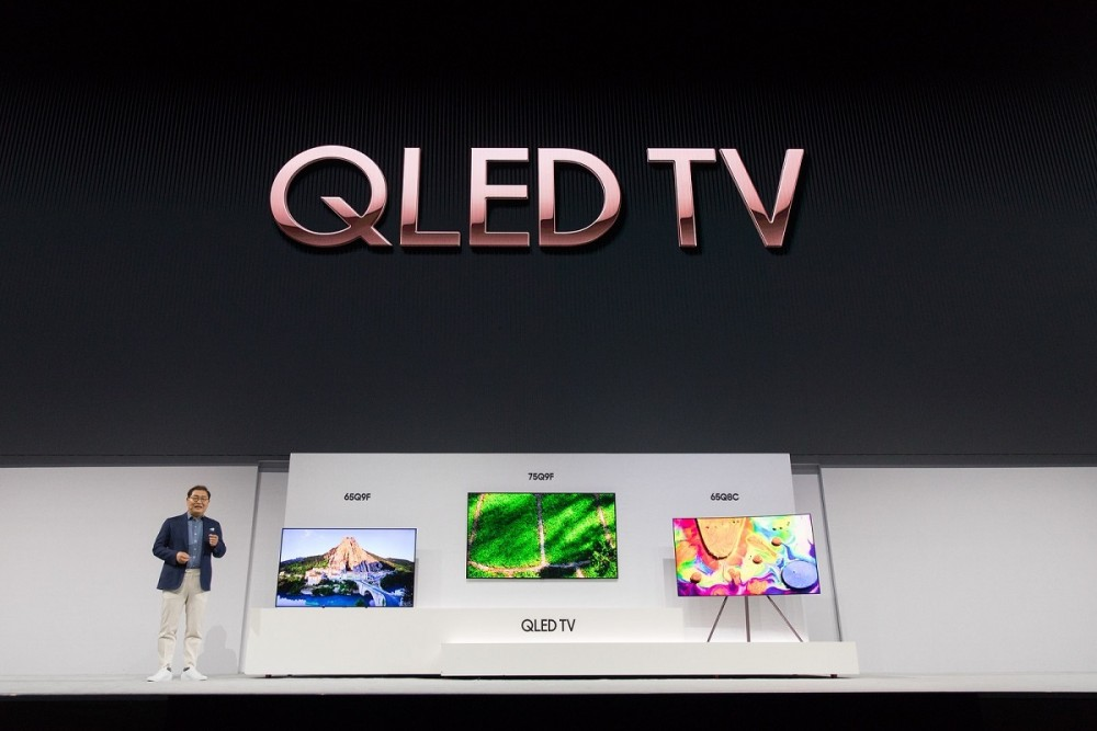 Jonghee Han, President of Visual Display Business at Samsung Electronics, introducing the new 2018 QLED TVs(1)