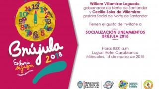 Socialización de lineamientos de la 'Brújula 2018'.