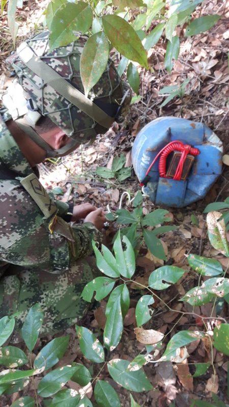 Tropas del Batallón de Artillería n.° 30 Batalla de Cúcuta, logran la ubicación y neutralización de tres artefactos explosivos.