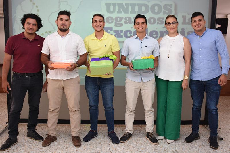 Elkin Almeida, Janz Jaramillo Benítez, Alberto Fazzolari Oliveiro, Ronaldo Sequeda Rolón, Doris Yaneth Barrera y Juan Pablo Salazar.